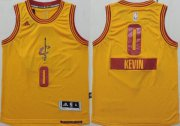 Cheap Cleveland Cavaliers #0 Kevin Love 2014 Christmas Day Yellow Kids Jersey