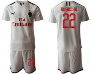 Wholesale Cheap AC Milan #22 Musacchio Away Soccer Club Jersey