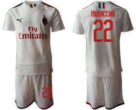 Wholesale AC Milan #22 Musacchio Away Soccer Club Jersey