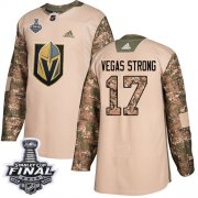 Wholesale Cheap Adidas Golden Knights #17 Vegas Strong Camo Authentic 2017 Veterans Day 2018 Stanley Cup Final Stitched Youth NHL Jersey