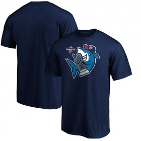 Wholesale Cheap Washington Nationals Majestic 2019 World Series Champions Trophy Shark T-Shirt Navy