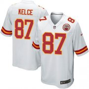 Wholesale Cheap Nike Chiefs #87 Travis Kelce White Youth Stitched NFL Elite Jersey