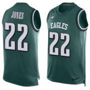 Wholesale Cheap Nike Eagles #22 Sidney Jones Midnight Green Team Color Men's Stitched NFL Limited Tank Top Jersey