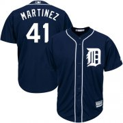 Wholesale Cheap Tigers #41 Victor Martinez Navy Blue Cool Base Stitched Youth MLB Jersey