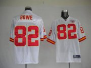 Wholesale Cheap Chiefs #82 Dwayne Bowe White With AFL 50 Anniversary Patch Stitched NFL Jersey