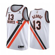 Wholesale Cheap Nike Clippers #13 Paul George White 2019-20 Classic Edition Stitched NBA Jersey