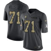 Wholesale Cheap Nike Browns #71 Jedrick Wills JR Black Youth Stitched NFL Limited 2016 Salute to Service Jersey