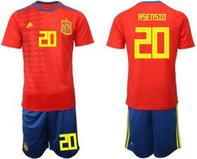 Wholesale Cheap Spain #20 Asensio Home Soccer Country Jersey