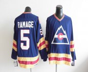 Wholesale Cheap Avalanche CCM Throwback #5 Rob Ramage Blue Stitched NHL Jersey