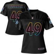Wholesale Cheap Nike Titans #49 Nick Dzubnar Black Women's NFL Fashion Game Jersey