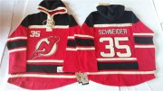 Wholesale Cheap Devils #35 Cory Schneider Red Sawyer Hooded Sweatshirt Stitched NHL Jersey