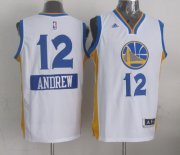 Wholesale Cheap Golden State Warriors #12 Andrew Bogut Revolution 30 Swingman 2014 Christmas Day White Jersey