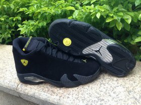 Wholesale Cheap Jordan 14 Ferrari Shoes Black/yellow