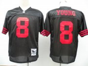 Wholesale Cheap Mitchell and Ness 49ers #8 Steve Young Black Stitched NFL Jersey