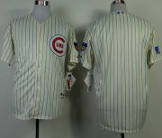 Wholesale Cheap Cubs Blank Cream 1969 Turn Back The Clock Stitched MLB Jersey