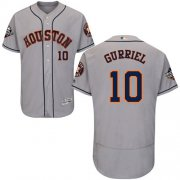 Wholesale Cheap Astros #10 Yuli Gurriel Grey Flexbase Authentic Collection 2019 World Series Bound Stitched MLB Jersey