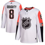 Wholesale Cheap Adidas Kings #8 Drew Doughty White 2018 All-Star Pacific Division Authentic Stitched Youth NHL Jersey