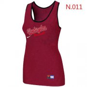 Wholesale Cheap Women's Nike Washington Nationals Tri-Blend Racerback Stretch Tank Top Red