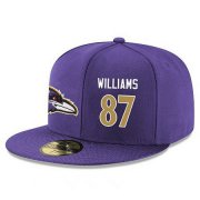 Wholesale Cheap Baltimore Ravens #87 Maxx Williams Snapback Cap NFL Player Purple with Gold Number Stitched Hat