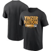 Wholesale Cheap Pittsburgh Pirates Nike Local Nickname T-Shirt Black