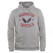 Wholesale Cheap Washington Capitals Heritage Pullover Hoodie Ash