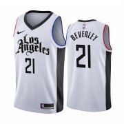 Wholesale Cheap Nike Clippers #21 Patrick Beverley 2019-20 White Los Angeles City Edition NBA Jersey