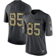 Wholesale Cheap Nike Chargers #85 Antonio Gates Black Men's Stitched NFL Limited 2016 Salute to Service Jersey