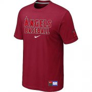 Wholesale Cheap Los Angeles Angels Nike Short Sleeve Practice MLB T-Shirt Red