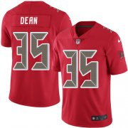 Wholesale Cheap Nike Buccaneers #35 Jamel Dean Red Men's Stitched NFL Limited Rush Jersey
