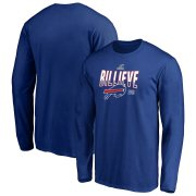 Wholesale Cheap Buffalo Bills 2019 NFL Playoffs Bound Hometown Checkdown Long Sleeve T-Shirt Royal