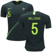 Wholesale Cheap Australia #5 Milligan Away Soccer Country Jersey