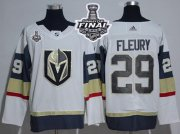 Wholesale Cheap Adidas Golden Knights #29 Marc-Andre Fleury White Road Authentic 2018 Stanley Cup Final Women's Stitched NHL Jersey