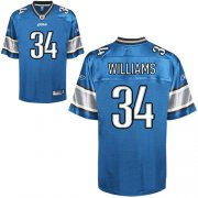 Wholesale Cheap Lions #34 Keiland Williams Blue Stitched NFL Jersey