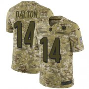 Wholesale Cheap Nike Bengals #14 Andy Dalton Camo Men's Stitched NFL Limited 2018 Salute To Service Jersey