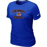 Wholesale Cheap Women's Nike Cincinnati Bengals Heart & Soul NFL T-Shirt Blue