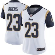 Wholesale Cheap Nike Rams #23 Cam Akers White Women's Stitched NFL Vapor Untouchable Limited Jersey