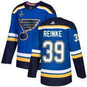 Wholesale Cheap Adidas Blues #39 Mitch Reinke Blue Home Authentic 2019 Stanley Cup Champions Stitched NHL Jersey