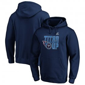 Wholesale Cheap Tennessee Titans 2019 NFL Playoffs Bound Hometown Checkdown Pullover Hoodie Navy