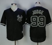 Wholesale Cheap Yankees #99 Aaron Judge Black Fashion Stitched MLB Jersey