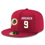 Wholesale Cheap Washington Redskins #9 Sonny Jurgensen Snapback Cap NFL Player Red with White Number Stitched Hat