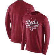 Wholesale Cheap Cincinnati Reds Nike Practice Long Sleeve T-Shirt Red
