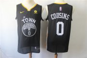 Wholesale Cheap Men's Nike Golden StateWarriors #0 DeMarcus Cousins Black Nike Swingman Jersey