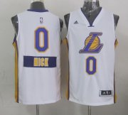 Wholesale Cheap Los Angeles Lakers #0 Nick Young Revolution 30 Swingman 2014 Christmas Day White Jersey
