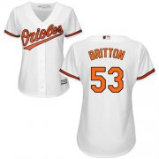Wholesale Cheap Orioles #53 Zach Britton White Home Women's Stitched MLB Jersey