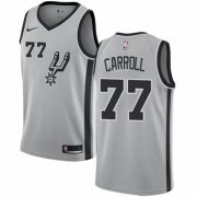 Wholesale Cheap Nike Spurs #77 DeMarre Carroll Silver NBA Swingman Statement Edition Jersey