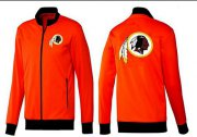 Wholesale Cheap NFL Washington Redskins Team Logo Jacket Orange
