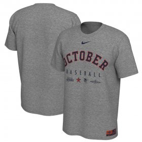 Wholesale Cheap Houston Astros Nike 2019 Postseason Legend October T-Shirt Heather Gray