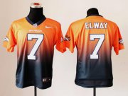 Wholesale Cheap Nike Broncos #7 John Elway Orange/Navy Blue Men's Stitched NFL Elite Fadeaway Fashion Jersey