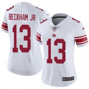 Wholesale Cheap Nike Giants #13 Odell Beckham Jr White Women's Stitched NFL Vapor Untouchable Limited Jersey