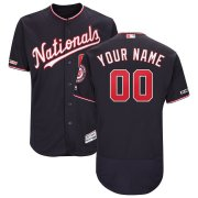 Wholesale Cheap Washington Nationals Majestic Alternate Authentic Collection Flex Base Custom Jersey Navy